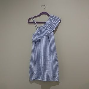 🏖️ blue and white striped summer dress